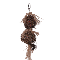 Kazoo 2 Piece Stacked Wicker Ball W/ Bell