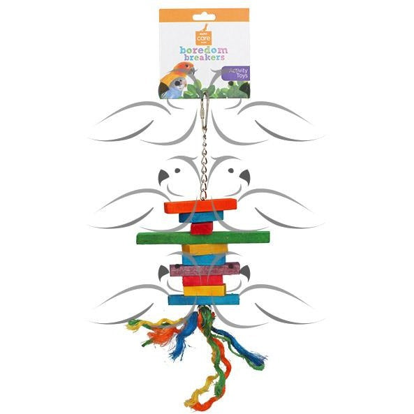 Bird Toy Wood and Rope 23 X 13CM-PARROTBOX PET SUPPLIES