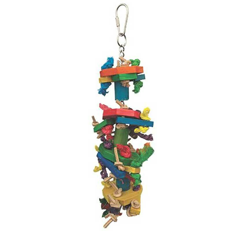 Knots and Blocks Preening Toy