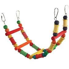 Wooden Bead Ladder-PARROTBOX PET SUPPLIES