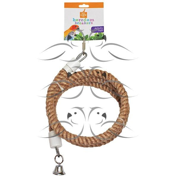 Natural Coir Spiral Perch-PARROTBOX PET SUPPLIES