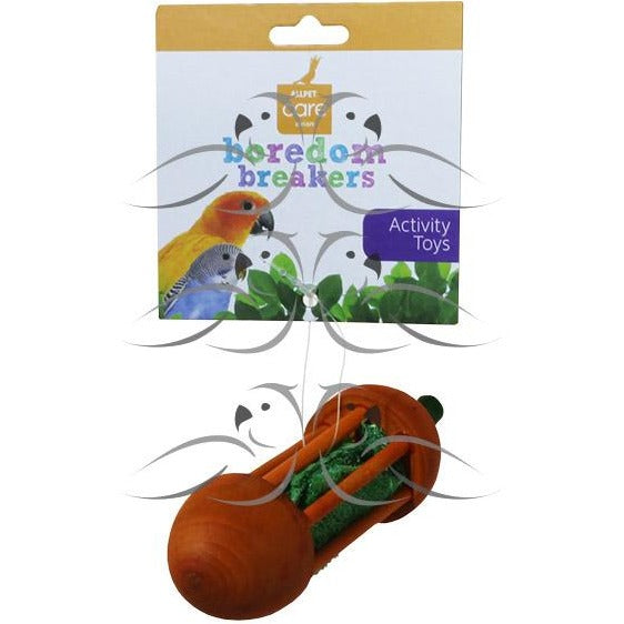 Wood and Loofah Carrot-PARROTBOX PET SUPPLIES