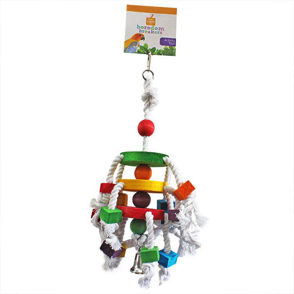 disc and block bird toy - parrotbox pet supplies