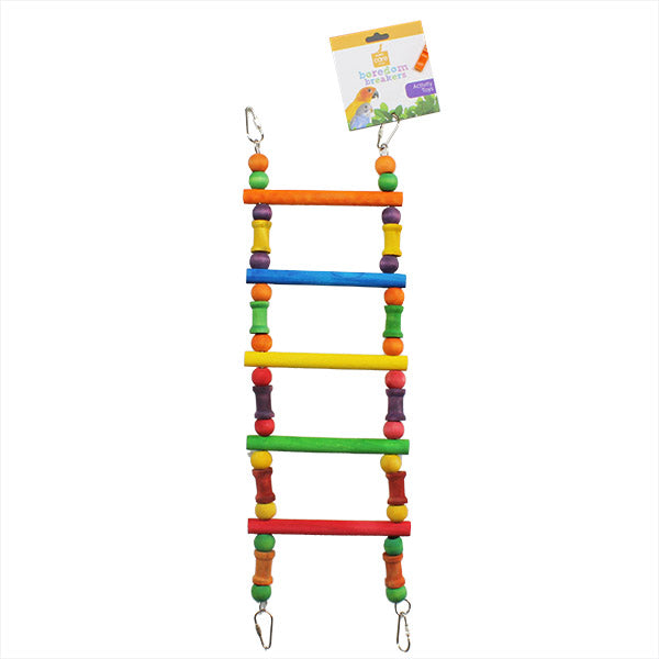 Bird ladder colored for small birds, parrotbox pet supplies