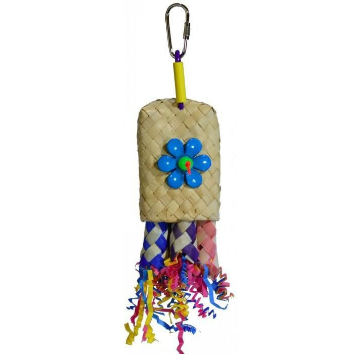 Bird toy pocket rocket from parrotbox, parrot foraging, parrotbox