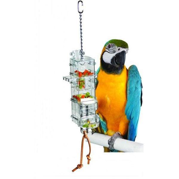 parrotbox bird foraging toy tug and slide