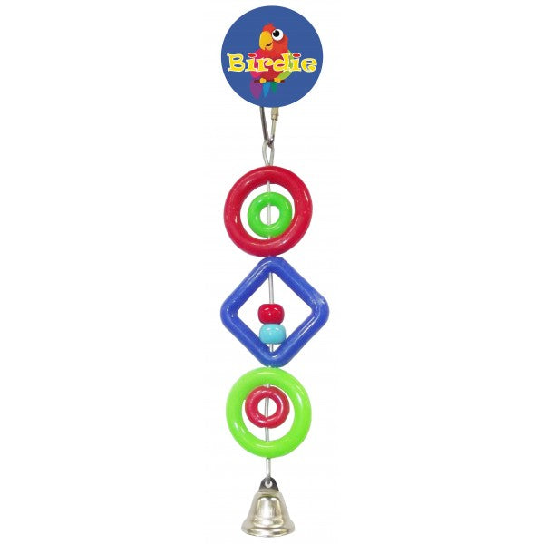 parrotbox rings beads and bell bird toy