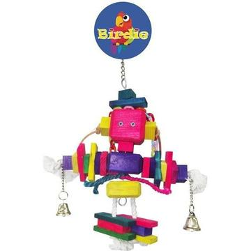 parrotbox block man bird toy