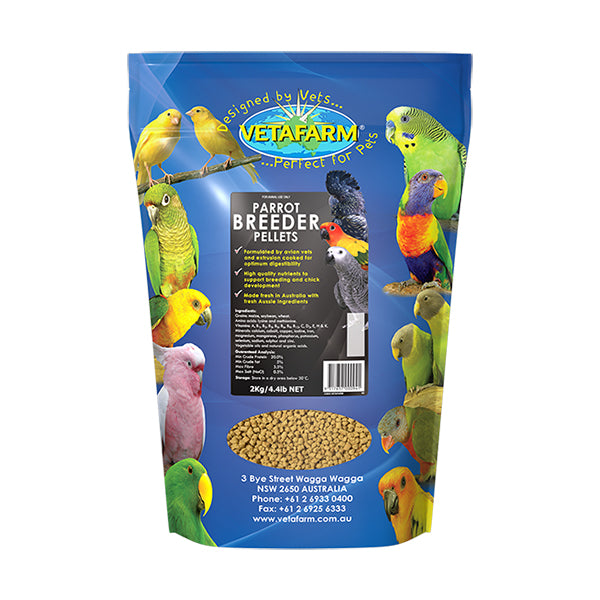 breeder pellets vetafarm 2gk parrotbox pet supplies