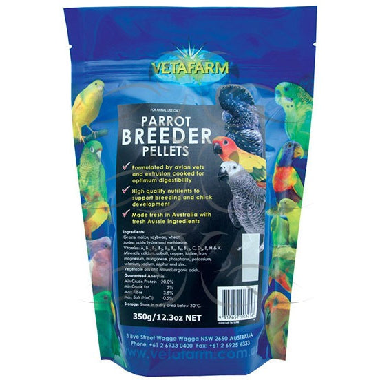 Vetafarm Parrot Pellets 2Kg Breeder Diet - PARROTBOX PET SUPPLIES