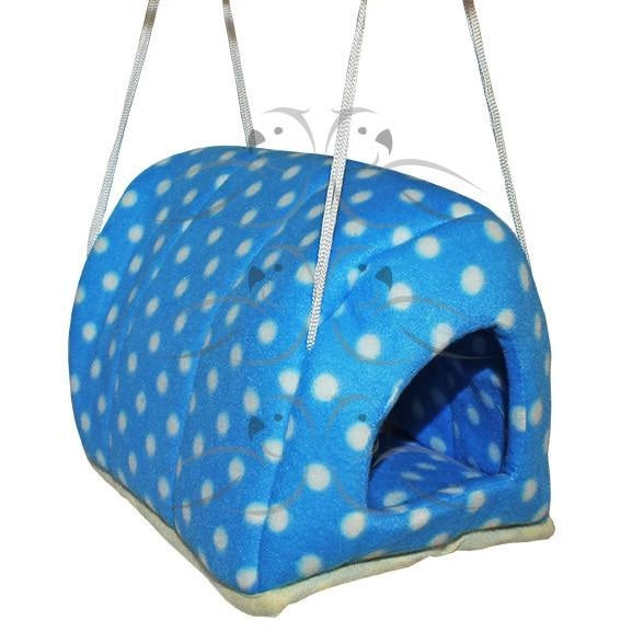 Cuddles Hutch - Blue Spot-PARROTBOX PET SUPPLIES