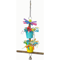 bird toy, parrotbox double bucket swing, parrot hanging toy