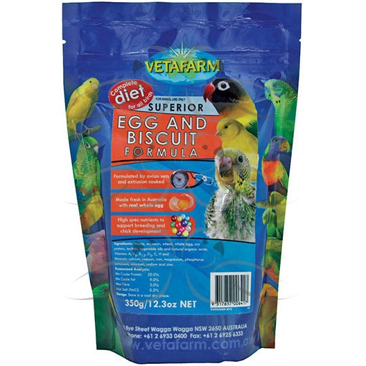Vetafarm Superior Egg & Biscuit 350GM-PARROTBOX PET SUPPLIES