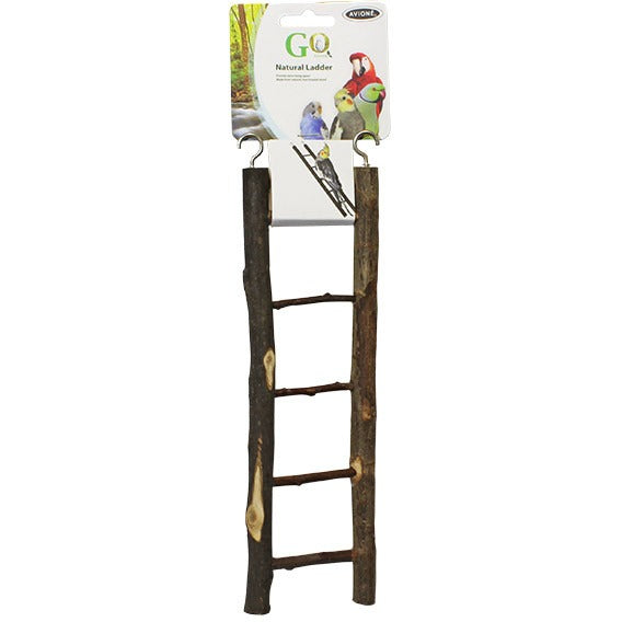 Natural Bird Ladder Five Steps-PARROTBOX PET SUPPLIES