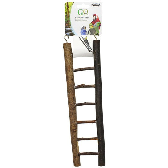 Natural Bird Ladder Seven Steps-PARROTBOX PET SUPPLIES