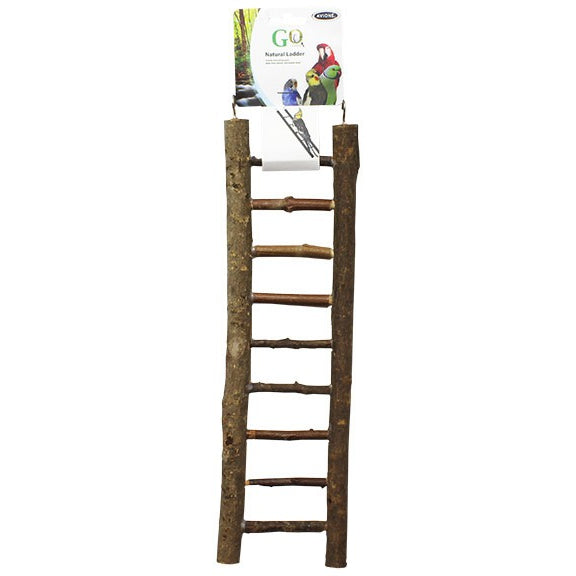Natural Bird Ladder Nine Steps-PARROTBOX PET SUPPLIES