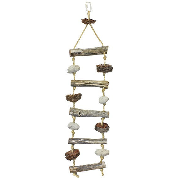 Natural Hanging Ladder-PARROTBOX PET SUPPLIES