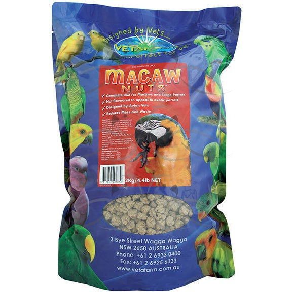 Vetafarm Macaw Nuts 2Kg - PARROTBOX PET SUPPLIES
