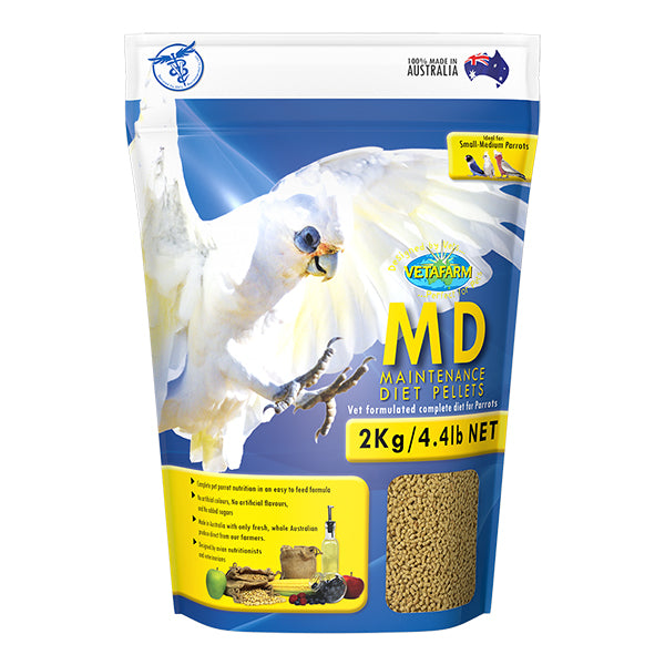 vetafarm maintenance diet pellets 2kg parrotbox