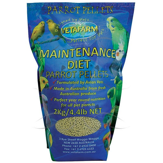 Vetafarm Parrot Pellet Maintenance Diet 2KG-PARROTBOX PET SUPPLIES
