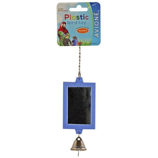 Mirror Rectangular with Bell-PARROTBOX PET SUPPLIES