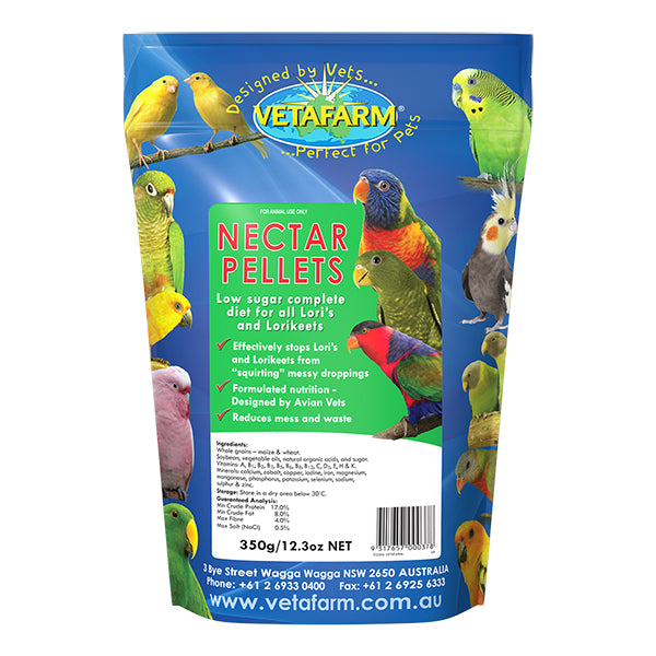 Vetafarm Nectar Pellets-PARROTBOX PET SUPPLIES