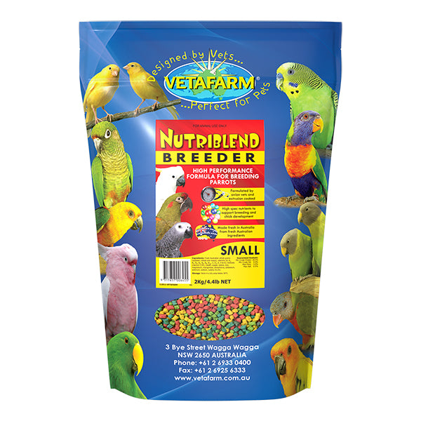Vetafarm Small Nutriblend 2Kg Breeder Pellets-PARROTBOX PET SUPPLIES