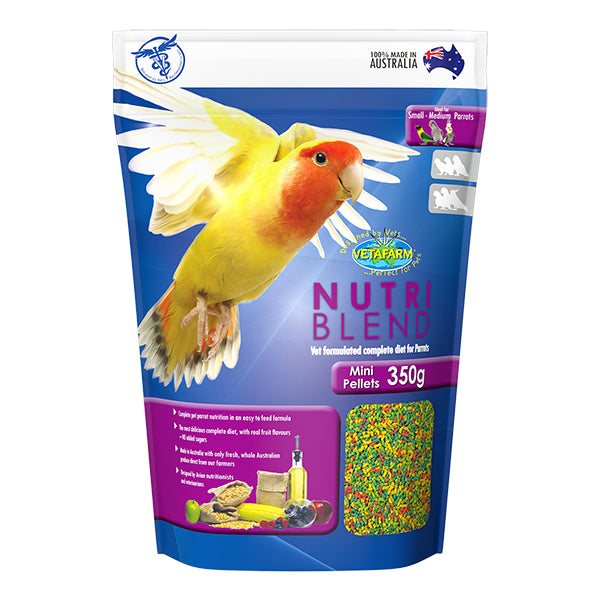 Vetafarm Nutriblend Mini Pellet 350 grams - PARROTBOX PET SUPPLIES