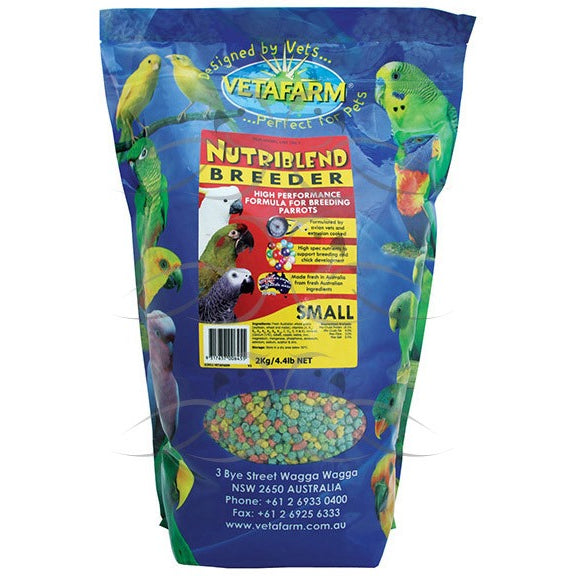 Vetafarm Small Nutriblend 2Kg Breeder Pellets - PARROTBOX PET SUPPLIES