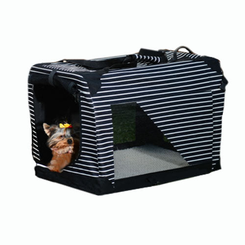 parrotbox pets striped pet carrier for birds, cats, dogs and small animal. Sturdy heavy duty construction