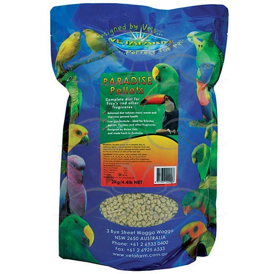 Vetafarm Paradise Pellets 2Kg Parrot Food - PARROTBOX PET SUPPLIES