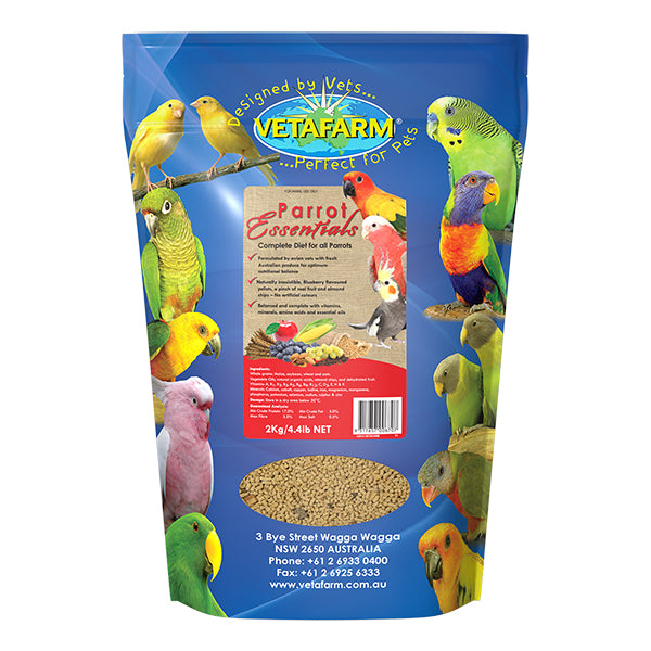 Vetafarm Parrot Essentials 2 kilogram bag - PARROTBOX PET SUPPLIES