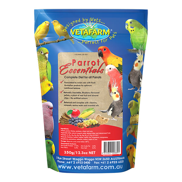 Vetafarm Parrot Essentials 350 gram bag - PARROTBOX PET SUPPLIES
