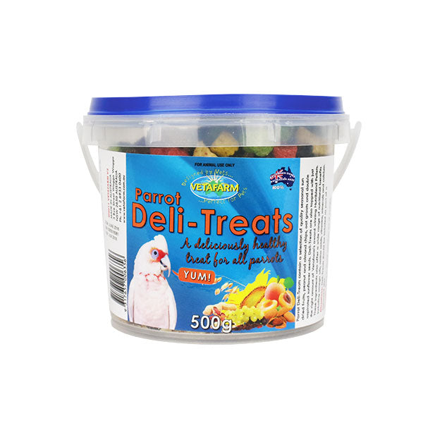Deli treats parrot food, 500 gram, bird treat food, parrotbox pet supplies