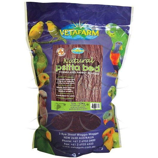 Vetafarm Natural Psittabed Parrot Bedding 1.3Kg-PARROTBOX PET SUPPLIES