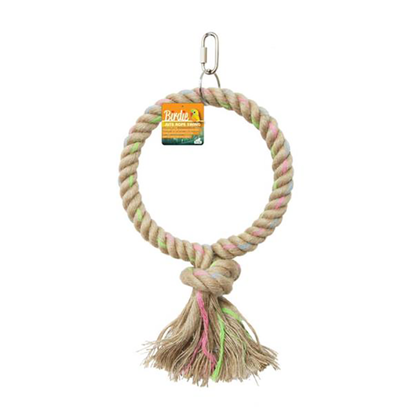 jute parrot swing 16cm for small birds