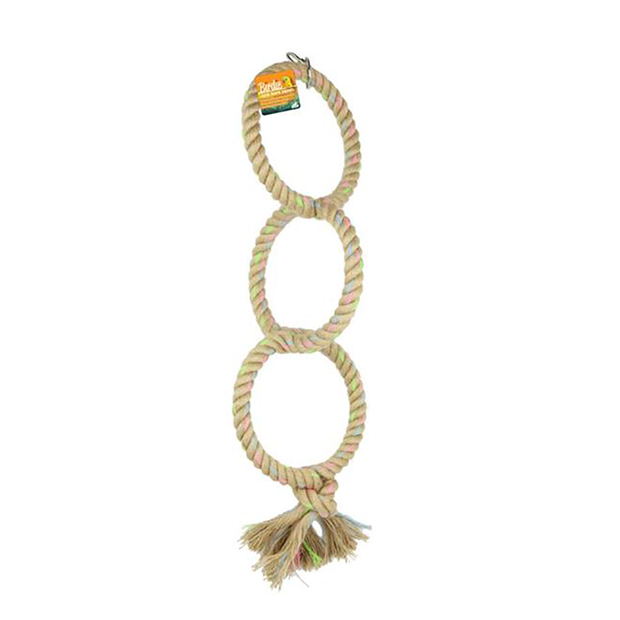 triple ring bird swing, parrot ring toy