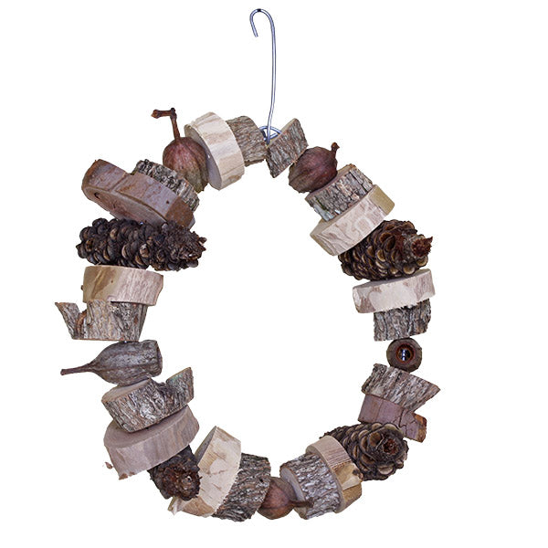 parrotbox bird ring large, natural Australian bird toy.