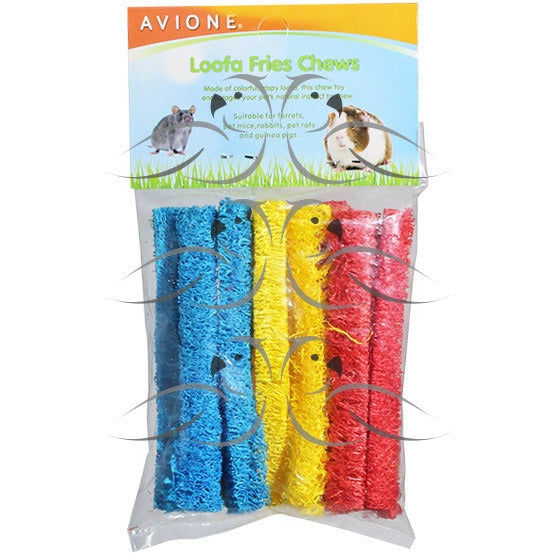 Loofah Fries-PARROTBOX PET SUPPLIES