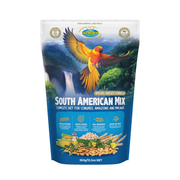 south american bird food, parrotbox pet supplies 350 gram bag