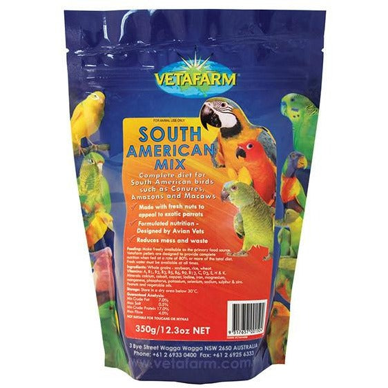 Vetafarm South American Mix Pellets 350GM-PARROTBOX PET SUPPLIES