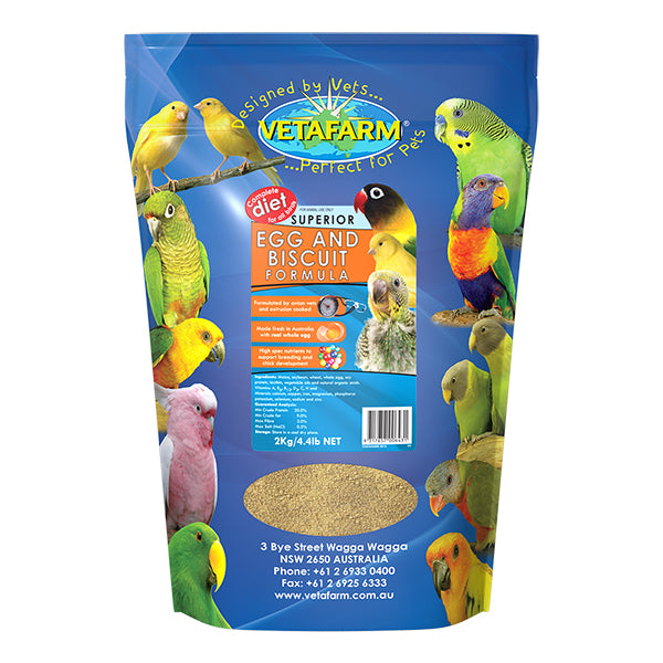 egg and biscuit bird food, parrotbox pet supplies, 2 kilogram bag