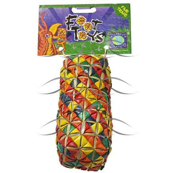 Cylinder Woven Foot Toy - Large-PARROTBOX PET SUPPLIES
