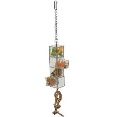 Doors and Drawers Foraging Toy-PARROTBOX PET SUPPLIES