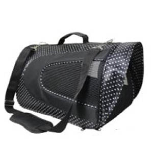 soft pet carrier spotted for birds and small animals