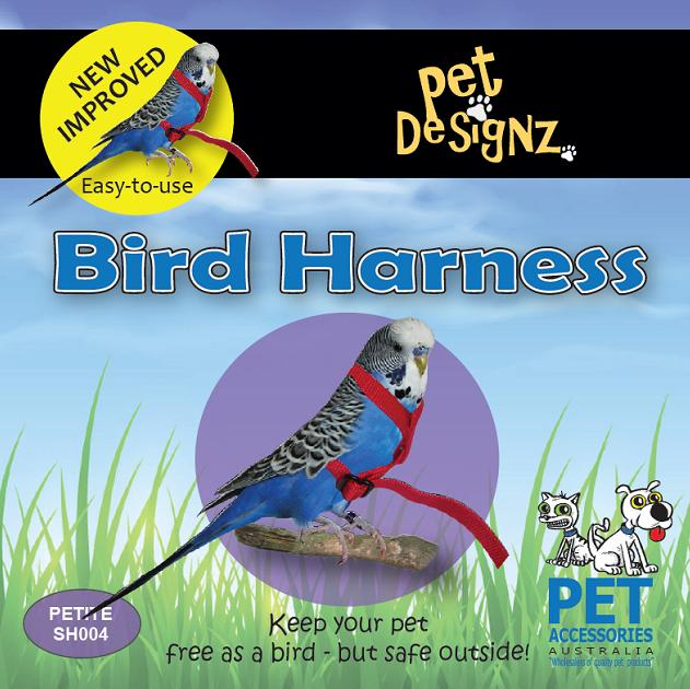 Bird harness, parrotbox harness for budgies and lovebirds
