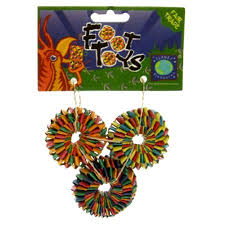 Tyre Foot Toy - 3 Pack