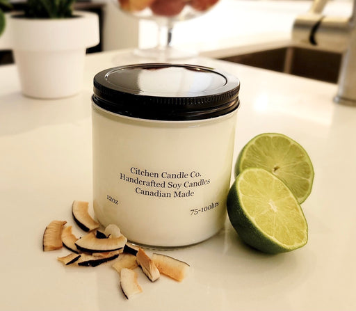 12oz Coconut Lime Scented Soy Candle