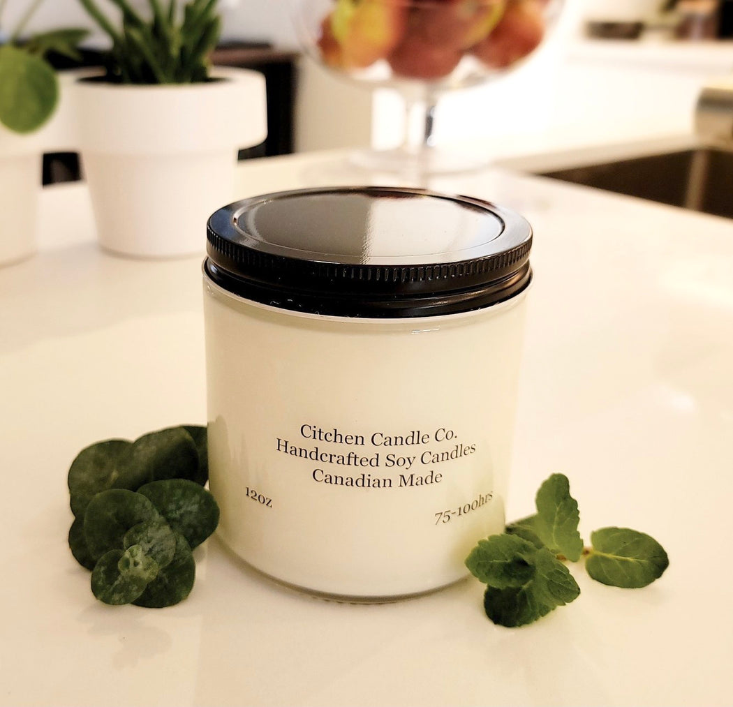 12oz Eucalyptus Spearmint Scented Soy Candle
