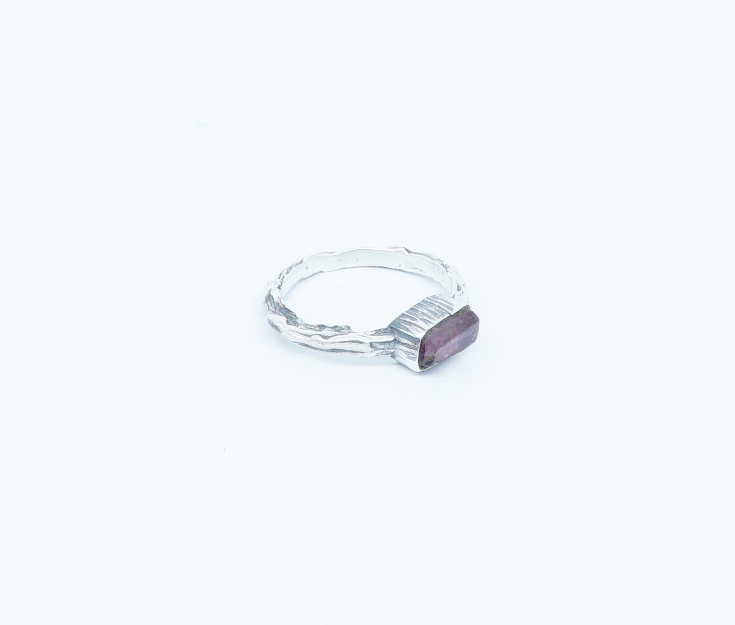 Pink Tourmaline swirl ring